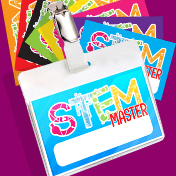 STEM Brag Tags! 10 Assorted color layouts included