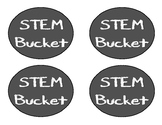 STEM Bucket Bin Labels - Chalkboard Theme