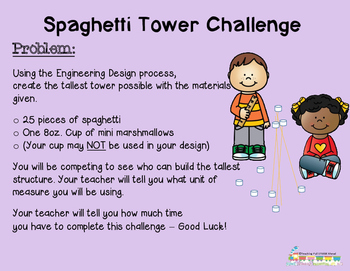 STEM Buddy Challenge: Buddy Up! Spaghetti Tower Challenge Free Preview