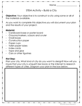 STEM Activity - Build a City