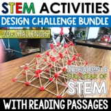 STEM Challenges FULL YEAR BUNDLE with Close Reading and St. Patrick's Day STEM