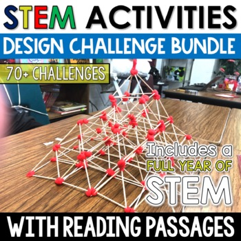 STEM Activities FULL YEAR of CHALLENGES with Valentines and Black History STEM