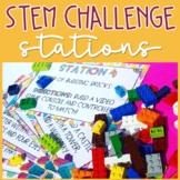 STEM Building Bricks Challenge Stations (Editable Version