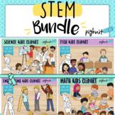 STEM Bundle of Kids Representing Science, Technology, Engi