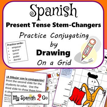 23a9748d6 STEM-CHANGERS PRESENT TENSE  Draw the Correct Conjugation by My Spanish 2 Go