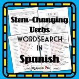 STEM-CHANGERS PRESENT TENSE WORDSEARCH
