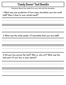 STEM: Valentine's Candy Boxes CCSS/NGSS