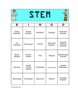 STEM Career Bingo Game