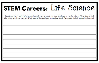 STEM Career Day Activities-Life Science