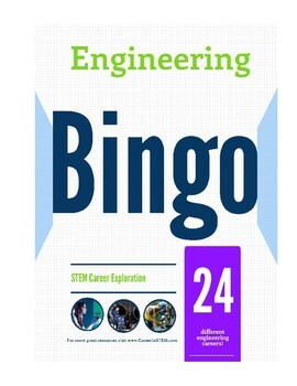 Engineering Bingo - great end of the year activity! (career exploration game)