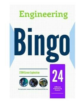 Engineering Bingo - great back to school activity! (career exploration game)