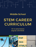 Introductory Middle School STEM Curriculum: 30 no prep, career infused lessons!