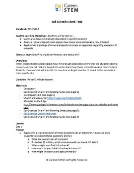 Soil Scientist Lesson Bundle (minerals, deposition) + project based assessment