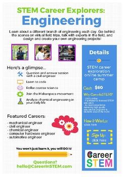 STEM Career Explorers: Engineering (Online Summer Camp)