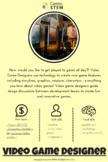 STEM Career Poster: Video Game Designer (online STEM activity distance learning)