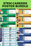 STEM Career Posters Bundle - 11 poster sets with interacti