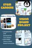 STEM Career Vision Board Project w Editable Canva Template
