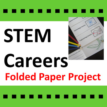 STEM Careers Folded Paper Project Activity