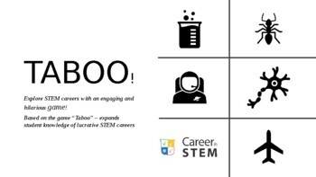 STEM Careers Taboo - great end of the year activity!