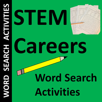 STEM Careers (Science, Technology, Engineering & Math) Word Search Puzzles