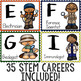 STEM Careers from A to Z Printable Poster Pack for Elementary Career Education