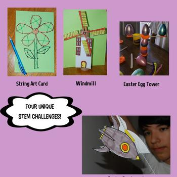 STEM Center Challenges - April STEAM Easter - Spring