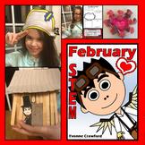 STEM Center Challenges - Valentine's Day Presidents Day STEAM