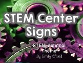 STEM Center Signs (STEM-sational Theme)