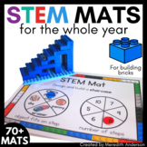 STEM Center for Building Bricks: BUNDLE of STEM Mats for the Entire Year!