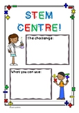 STEM Centre Sign - Write and Wipe!