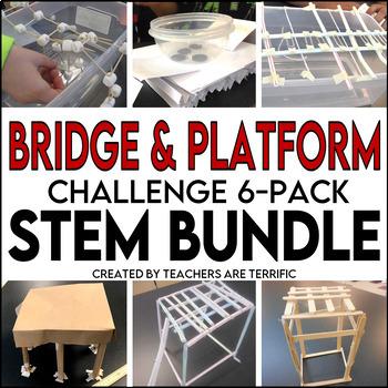 STEM Activities Challenge 6 Pack Bundle featuring Bridges and Platforms