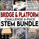 STEM Challenge 6 Pack Bundle featuring Bridges and Platforms