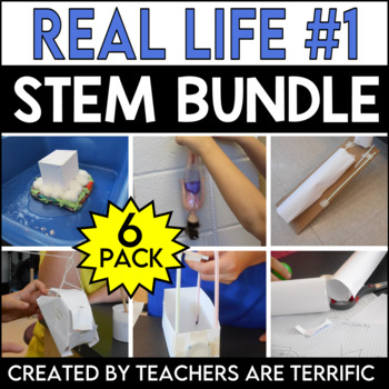 STEM Activities Challenge 6 Pack Bundle featuring Real Life Adventures!