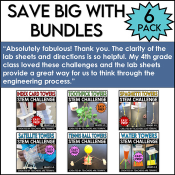 STEM 6 Pack Bundle featuring Tower Challenges