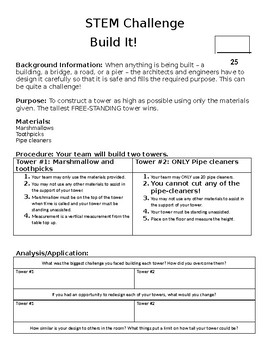 STEM Challenge- Build It