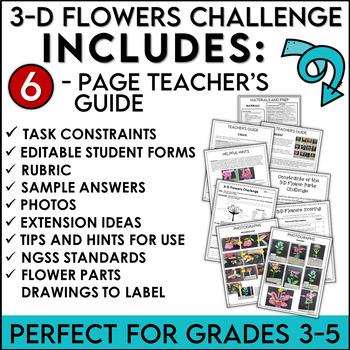 STEM Activity Challenge Build a 3-D Flower Model
