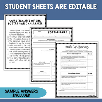STEM Activity Challenge Build a Bottle Car featuring Newton's 3rd Law