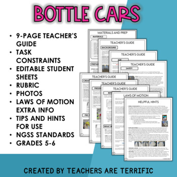 STEM Challenge Bottle Car featuring Newton's 3rd Law