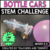 STEM Challenge Bottle Car featuring Newton's 3rd Law