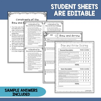 STEM Valentine's Day Activity Challenge Build a Bow and Arrow