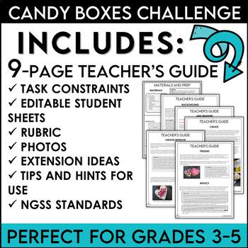 STEM Valentine's Day Activity Challenge Build a Candy Box