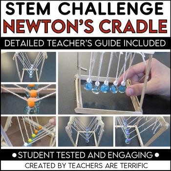 STEM Activity Challenge Build a Newton's Cradle- featuring Newton's 3rd Law
