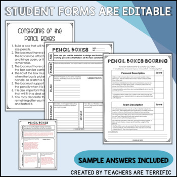 STEM Challenge Build a Pencil Box