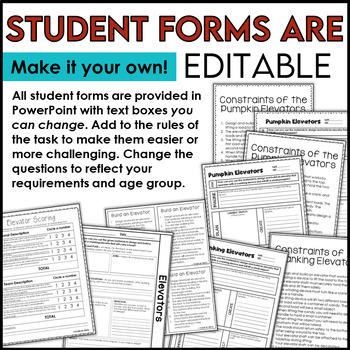 STEM Halloween Pumpkin Elevators Challenge