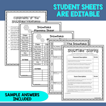 STEM Activity Challenge Build a Snowflake