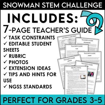 Winter STEM Challenge Snowman Design