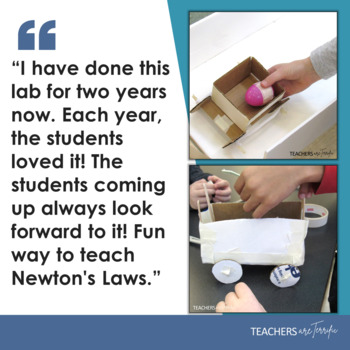 STEM Activity Challenge Build an Egg Car featuring Newton's 2nd Law