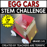 STEM Challenge Egg Cars featuring Newton's 2nd Law