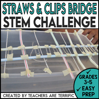 STEM Activity Challenge Bridges with Straws and Paperclips