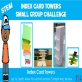 STEM Index Cards Towering Building Activity